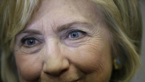 Democratic presidential candidate Hillary Clinton greets supporters during a town hall meeting Wednesday, Dec. 9, 2015, in Waterloo, Iowa. (AP Photo/Charlie Neibergall)